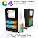 iSDT SMART CHARGER C4 - 25W, 3A, 1-4S Nixx/LiXX, size AA , AAA etc