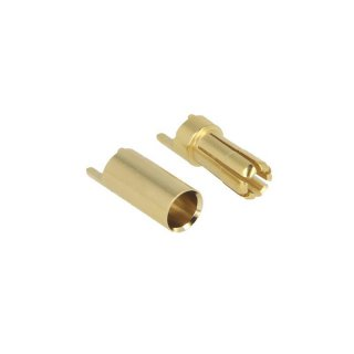 5.5mm solid gold connector - pair