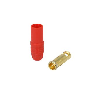 7mm gold connector - 150A - red - female